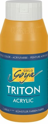 Solo Goya Acrylfarbe TRITON ACRYLIC BASIC - Brillantocker hell 750ml