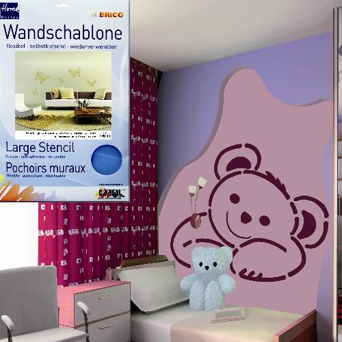 brico wandschablonen xxl format mica versand. Black Bedroom Furniture Sets. Home Design Ideas