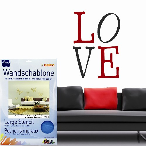 "Brico Wandschablone XXL ""Love"""
