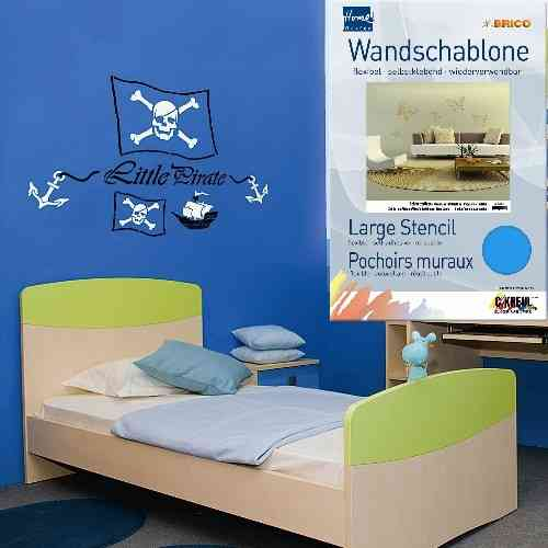 "Brico Wandschablone XXL ""Little Pirate"""