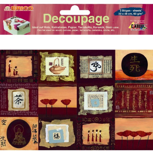 Decoupage Papier Asiatische Impressionen